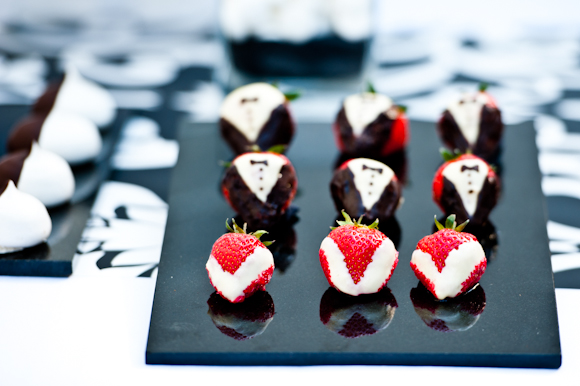 Tempting Tables black tie strawberries
