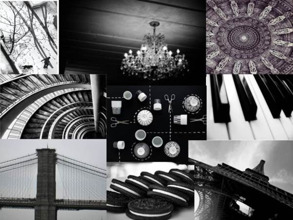 Tempting Tables monochrome mood board