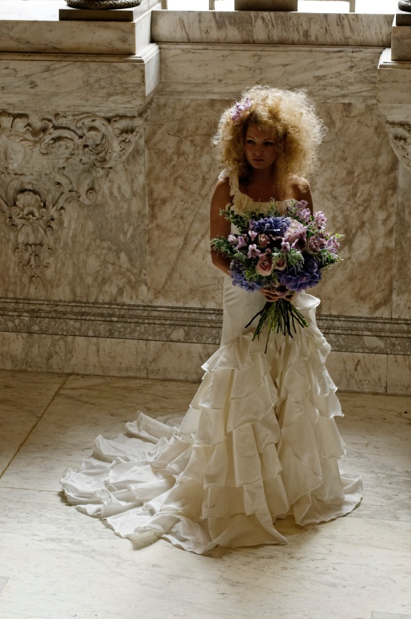 Mulberry bride full length shot