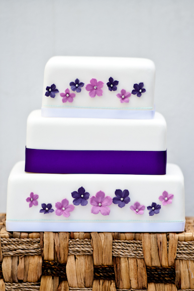 Flower Garland Wedding Cake by Tempting Cake