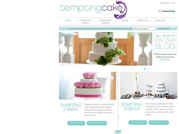 The new website by Tempting Cake