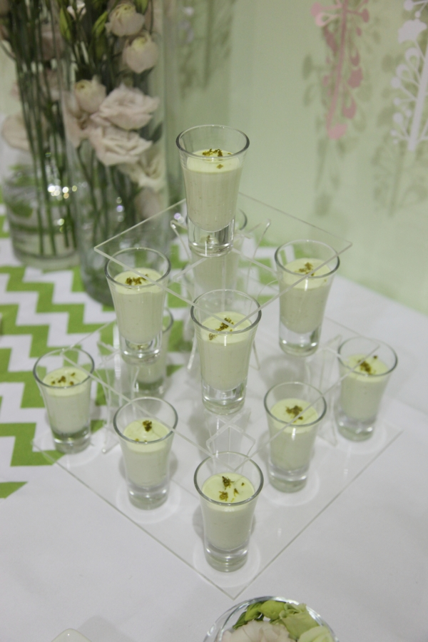 Zesty lime creme shot glasses by Tempting Cake. Image by Charlotte Fielding
